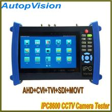 IPC-8600 Touch Screen CCTV Camera Tester AHD/CVI/TVI/SDI function with Digital Multi-Meter+TDR Cable Test+ visual fault locator