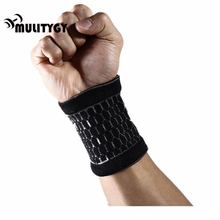 Mulitigy Safety Protection 2pc Wrist Band Outdoor Protective Outdoor Sport Professional Support Basketball Tennis Wrist Wraps(China)