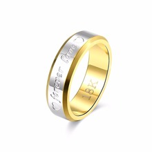 Classic Forever Love Solid Gold Ring Engagement Wedding Rings for Women Couples Lovers