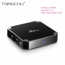 [Original]X96 Mini TV BOX 2GB DDR3 16GB eMMC Android 7.1.2 Amlogic S905W Quad Core 2.4GHz WiFi Suppot H.265 UHD 4K Media Player