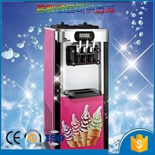 Southeast Asia popular 20-25L/H mini vertical type 3 flavor portable soft ice cream machine CFR price shipping by sea