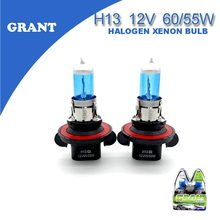 GRANT 1Set  H13 9008 12V 65/55W Halogen Xenon Bulbs 6000K Bright White Auto Replacement Lamps Car Styling Headlights For Ford