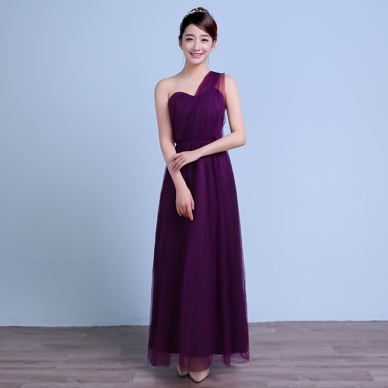 Fashion teenager clothes for wedding conversible style long purple summer bridesmaid dress girls wedding dresses girls gowns<br><br>Aliexpress