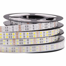 Top Quality! 5M DC 12V 600Led 120led/m waterproof SMD 5050 RGB Warm White led strip Double Row Flexible ribbon tape light(China)