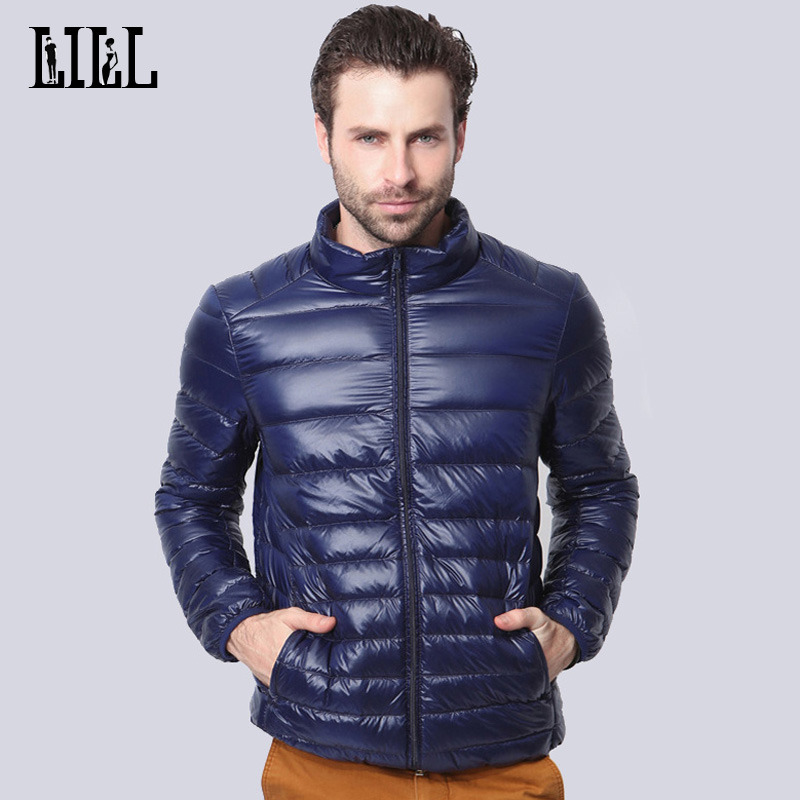 Hi-Q 2017 Spring Man Ultra Light White Duck Down Jacket Men Fashion Thin Coats Autumn Casual Male Black Feather Jackets,UMA343