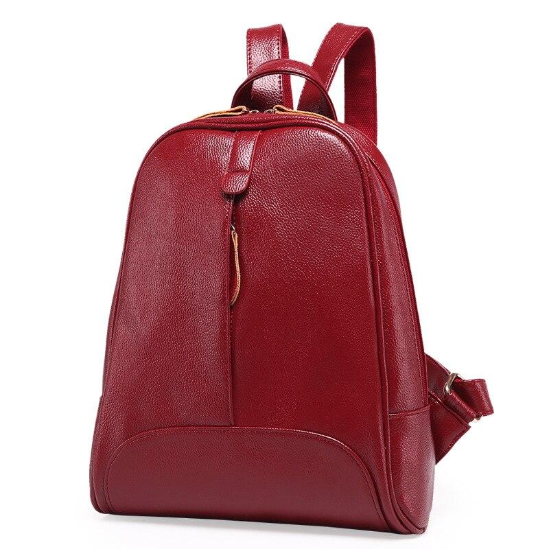 Chu JJ Designer High Quality Fashion Women Genuine Leather Backpacks Girl School Bag Laptop Travel Bag Female Mochila Feminina<br>