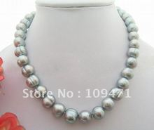 Beautiful! 12MM Grey Pearl Necklace