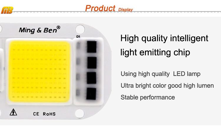 [MingBen] LED COB Lamp Chip 5W W 30W 50W 2V Input Smart IC Driver Fit For DIY LED Floodlight Spotlight Cold White Warm White 12