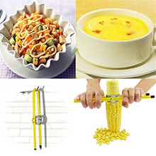 Household Vegetables tool Remover Corn Peeler Stripper Thresher Cooking Kitchen Tools Corn thresher Stripped corn grain YL973511(China)