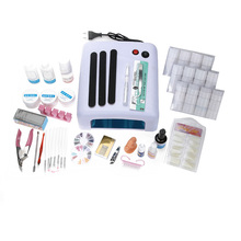 UV Gel Nail Art Full Set 36W UV LED Ultraviolet Phototherapy Lamp Dryer Nail Brushes Multiple Nail Glue Complete Nail Art Set
