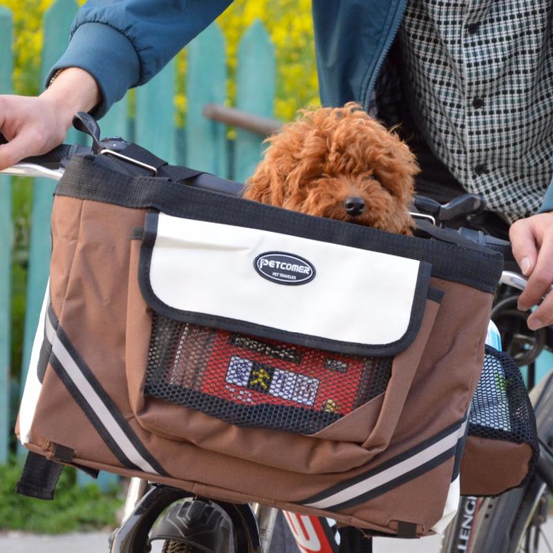 Pet dog bicycle carrier bag6