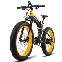 Folding Electric Cruiser Bike Cyrusher T750 500W 48V 10AH Fat Bike Full Suspension 27 Speed All-Road Mountain Snow Bicycle ebike(China)