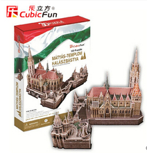 3D paper puzzle diy educational toys large puzzle famous buildings over the world MATTHIAS CHURCH FISHERMAN'S BASTION