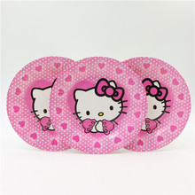 7'' inches cartoon cute hello kitty theme children's birthday festival/party decoration 12pcs/lot home outdoor decoratives  0310
