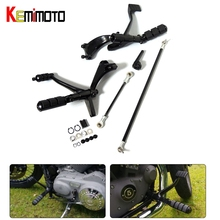 Motorcycle Parts Black Forward Controls Complete Kit with Pegs Levers Linkages For Harley Sportster 1200 883 2004-2013 2005 2006