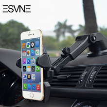 ESVNE Car Phone Holder GPS Auto Dashboard Windshield Mobile Cell Phone Car Holder Retractable Mount Stand Support cellular phone