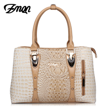 ZMQN Luxury Handbags Women Bag Designer 2017 High Quality Fashion Crocodile Tote Bags Handbag Women Famous Brand PU Leather A804(China)