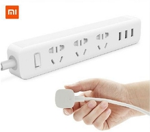 Xiaomi Original Power Strip Outlet Socket 3 USB Extension Socket Plug with Socket AU Standard Socket material PC 2500W 3 USB OUT