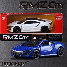 1:36 Scale RMZ city Acura NSX Sport Car Education Model Classical Pull back Die cast Metal toy For Collection Gift Free Shipping(China)