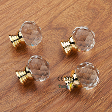 For Kitchen Cabinet Drawer Wardrobe Cupboard Dresser Used 40mm Crystal Glass Handle Door Knobs