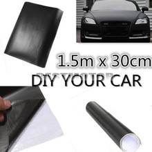 Universal 150x30cm Matt Matte Black Car Auto Body Sticker Decal Self Adhesive Wrapping Vinyl Wrap Sheet Film(China)