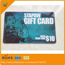 2017 Hot Customized Design silk-screen printing pvc/plastic VIP cards gift cards(China)
