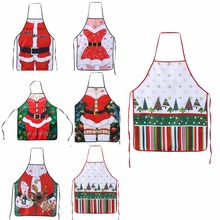 1 Pcs Christmas Santa Claus Apron Christmas Decorations for Home Red Cloth Adult Pinafore Noel Decoration Whimsy Novelty Gift