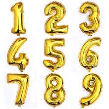 "40"" Giant Gold/Silver 0-9 Number Foil Helium Balloons Birthday Party Wedding New Year Christmas Decor Balloon Kids Gifts"