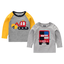 Fashion Baby Infant Cute Long Sleeve T-shirt For Girl Boy T Shirts Toddler Cartoon Pattern Tops Children's Clothing All Season(China)
