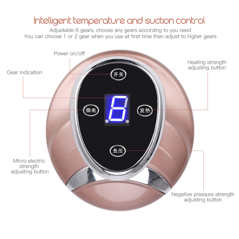 Guasha Suction Scraping Massager Electric Cupping Stimulate Acupoints Detoxification Massage Tool Magnetic Wave Physiotherapy 0 5