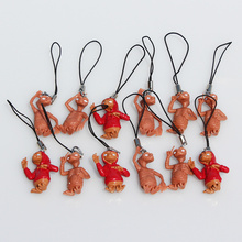 12Pcs/Set E.T. The Extra-Terrestrial Figure Toy Pendant Halloween Cosplay Phone Strap 3cm Approx(China)
