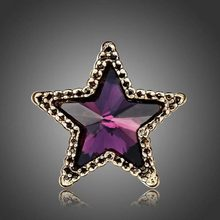 Star Brooch -GFS- Hot Sale Fashion Women 's Mini - Five - Pointed Star Crystal Brooch Shirt Suit Star Collar #1786563