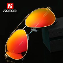 Electrifying Reflective Rose Gold Sunglasses Men Polarized 62mm G-15 Lens Pilot Sun Glasses Driving With Original Box KDEAM(China)