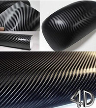20cmx152cm 4D Carbon Fiber Vinyl Wrap Sticker Roll Film Air Release Technology Bubble Free anti-wrinkle Waterproof Car Styling(China)