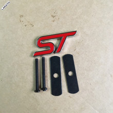 Black Blue Red Chrome Metal ST Car Grill Stickers Car-styling Decorations for Exploror Escort Kuga Mustang Fiesta eco sport