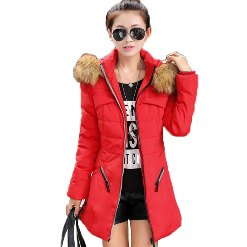 Womens Winter Jackets and Coats 2017 Womens Parkas Thick Warm Faux Fur Collar Hooded Anorak Ladies Jacket Female Manteau FemmeОдежда и ак�е��уары<br><br><br>Aliexpress