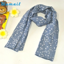 Sale Baby Boy Girl Kids Star Print Scarf Scarves Childn Toddler four seasons Cotton Linen Scarf  AGU 15