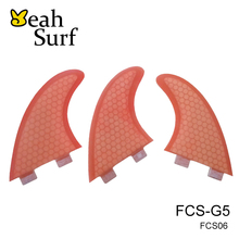 Quilhas Surf Orange FCS G3/G5/G7 Fins Honeycomb Surf Board Fin(China)