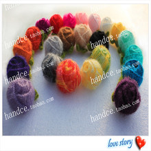 20 pcs 100% natural cotton crochet faux mini real touch scrapbooking roses with colored choice for home decoration as novelty(China)