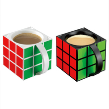 Xmas Gift Rubik's cube glass Creative insulation cup with a cup of sweet tea cups Mark cup with cover Color optional