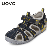 UOVO brand 2017 summer beach kids shoes closed toe sandals for boys and girls designer toddler sandals for 4 - 15 years old kids(China)