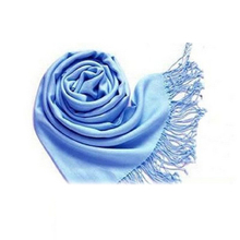 SAF-Winter Women Trendy Wrap Fashionable Scarf Wool Blends Soft Warm Long Large Shawl Tassels-sky blue