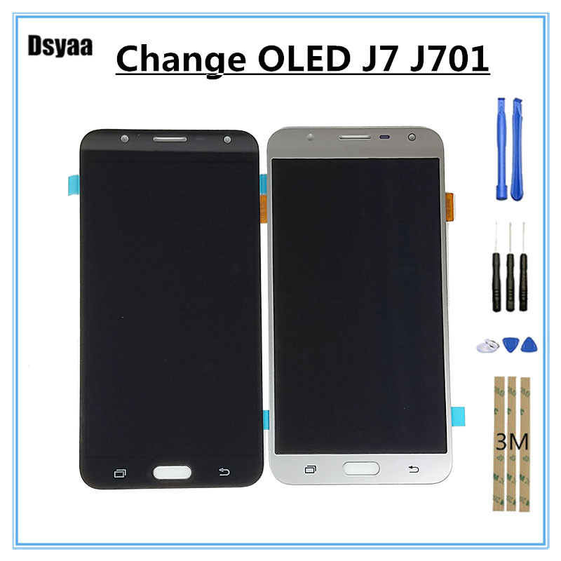 5 Inch for Samsung for Galaxy J7 Neo J701F J701M J701MT J701 LCD Display Touch Screen Digitizer Assembly Replacement with Tools