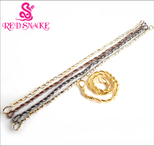 "RED SNAKE Wholesale 400pcs Costomize 1600*5mm  Stainless Steel Flexible,Bendable "" Snake "" Necklace Multi Color"