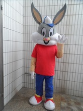 EASTER BUNNY MASCOT COSTUME Bugs gray Rabbit Hare Adult Fancy Dress Cartoon Suit Fancy Dress