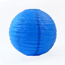 "6pcs 12""(30cm)Blue Paper Chinese Lantern For Wedding Scene Wedding Room Showcase Decoration Mall Activities DIY(China)"