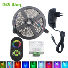 RGB LED Strip Light Waterproof SMD3528 5050 Led Strips 5M 10M 15M 20M DC12V Flexible Ribbon Diode Tape+Touch Controller+Power