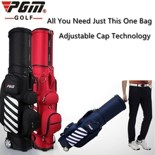 PGM Golf travel bag wheels stand caddy airbag flight aviation Multi-function high capacity golf cart bag staff golf bags(China)