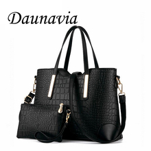 women handbag leather hand bag michael crocodile crossbody bag shoulder messenger bags clutch tote+purse 2 sets sac ND109