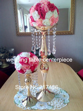2pcs/set ,new arrival Crystal Table Top Chandelier Centerpieces with flower bowl  For Weddings Table Wholesale
